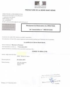 Congo ya sika une association parisienne de restauration - Prefecture de police de paris bureau des associations ...